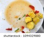 boiled egg yolks are removed... | Shutterstock . vector #1094329880