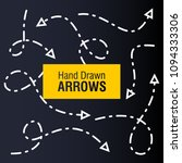 hand drawn arrow design... | Shutterstock .eps vector #1094333306