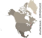 north america map vector... | Shutterstock .eps vector #1094341610