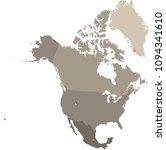 north america map vector...   Shutterstock .eps vector #1094341610