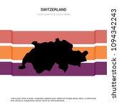 switzerland map with creative... | Shutterstock .eps vector #1094342243