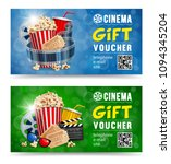cinema gift vouchers designs... | Shutterstock .eps vector #1094345204