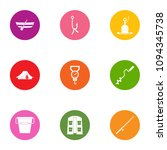 angling icons set. flat set of...   Shutterstock .eps vector #1094345738