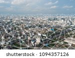 abstract network and line... | Shutterstock . vector #1094357126