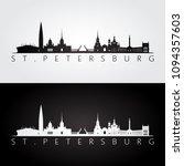 st. petersburg skyline and... | Shutterstock .eps vector #1094357603