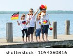 happy kids celebrating their... | Shutterstock . vector #1094360816