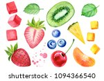 sweets and fruits   piece of... | Shutterstock . vector #1094366540