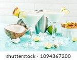 tropical drink  frozen coconut...   Shutterstock . vector #1094367200