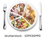 food balance products  on a... | Shutterstock . vector #109436990