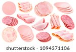 slices of different sausage ... | Shutterstock . vector #1094371106