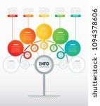 vector infographic of... | Shutterstock .eps vector #1094378606