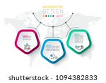 pentagons label infographic... | Shutterstock .eps vector #1094382833
