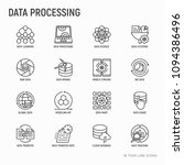data processing thin line icons ... | Shutterstock .eps vector #1094386496