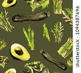vegan seamless pattern.   hand... | Shutterstock . vector #1094387696