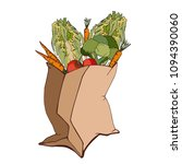 vector image of a paper bag... | Shutterstock .eps vector #1094390060