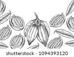 cocoa bean tree design template.... | Shutterstock .eps vector #1094393120