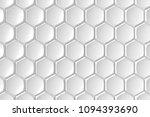 modern hexagon tile wall. 3d...   Shutterstock . vector #1094393690
