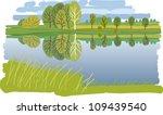 pond   Shutterstock .eps vector #109439540