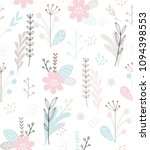 cute floral vector pattern.... | Shutterstock .eps vector #1094398553