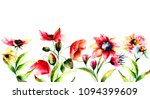 template for greeting card with ... | Shutterstock . vector #1094399609