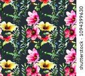 seamless wallpaper with garden... | Shutterstock . vector #1094399630