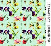 floral seamless pattern with... | Shutterstock . vector #1094399636