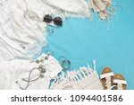 white woman clothes and... | Shutterstock . vector #1094401586