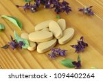 herbal tablet for good health | Shutterstock . vector #1094402264