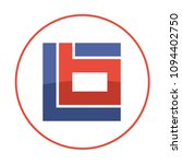 initials logo icon in a square... | Shutterstock .eps vector #1094402750