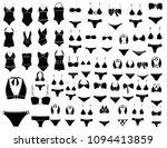 women swimsuit isolated   Shutterstock .eps vector #1094413859