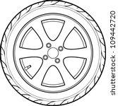car or truck tire line art   Shutterstock .eps vector #109442720