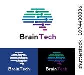 brain tech logo | Shutterstock .eps vector #1094430836
