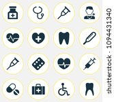 medicine icons set with... | Shutterstock .eps vector #1094431340