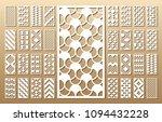 33 vector panels. cutout... | Shutterstock .eps vector #1094432228