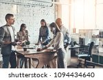 team at work. group of young... | Shutterstock . vector #1094434640