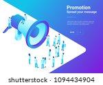 isometric flat loudspeaker...   Shutterstock .eps vector #1094434904