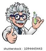 a cartoon scientist professor... | Shutterstock . vector #1094445443