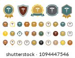 vector caduceus  icon | Shutterstock .eps vector #1094447546