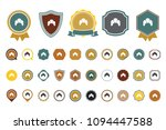 vector croissant icon | Shutterstock .eps vector #1094447588