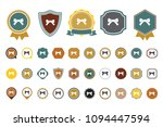 bow  ribbon  icon | Shutterstock .eps vector #1094447594