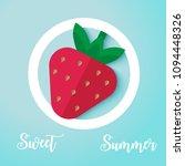 vector flat strawberry. design... | Shutterstock .eps vector #1094448326
