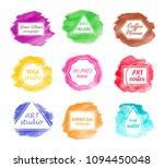 set watercolor backgrounds for... | Shutterstock .eps vector #1094450048