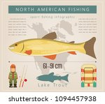 lake trout. north american... | Shutterstock .eps vector #1094457938