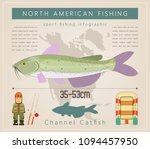 channel catfish. north american ...   Shutterstock .eps vector #1094457950