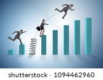 business people jumping over... | Shutterstock . vector #1094462960