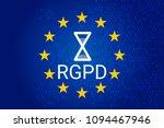 rgpd is gdpr  general data... | Shutterstock . vector #1094467946