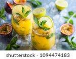 passion fruit lemonade... | Shutterstock . vector #1094474183