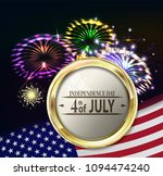 independence day with fireworks.... | Shutterstock .eps vector #1094474240
