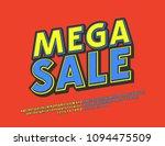 vector bright modern logotype... | Shutterstock .eps vector #1094475509