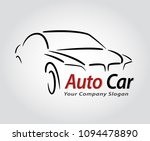 auto style car logo design with ... | Shutterstock .eps vector #1094478890